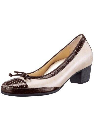 Zapatos de salón Slipper calidad cuero de bosque alfil (37) (37) alfil ancho h nuevo 9cc2f1