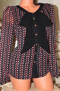 10 Top Shirt Flamboyant Soft Super Semi Beautiful Size Blouse Sheer SxqUvwxfz