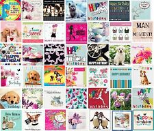 MIXED WHOLESALE 100 JOBLOT OF BIRTHDAY & GREETING CARDS FOR MEN WOMEN & CHILDREN