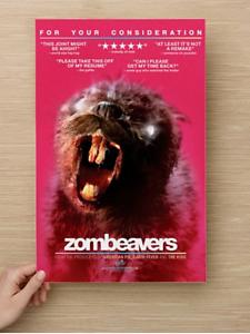 Zombeavers 11 x 17 Horror Movie Card-Stock Promo Poster Zombie Art Print Funny