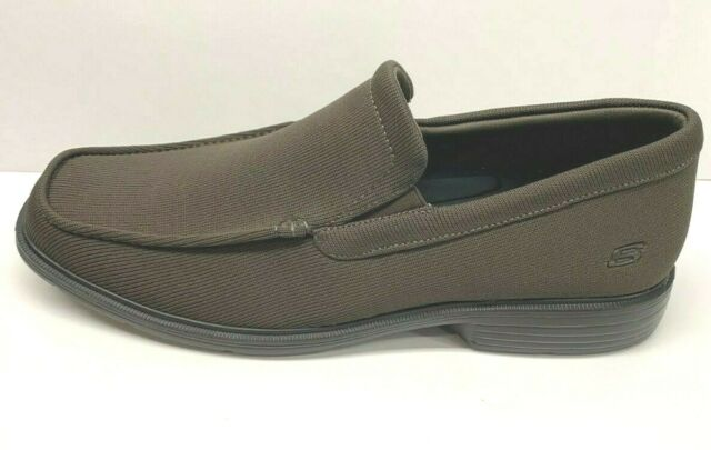 Brown Dress Knit Loafers New Mens Shoes