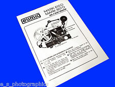 EUMIG 610D 607D 8mm Cine Projector Instruction Book