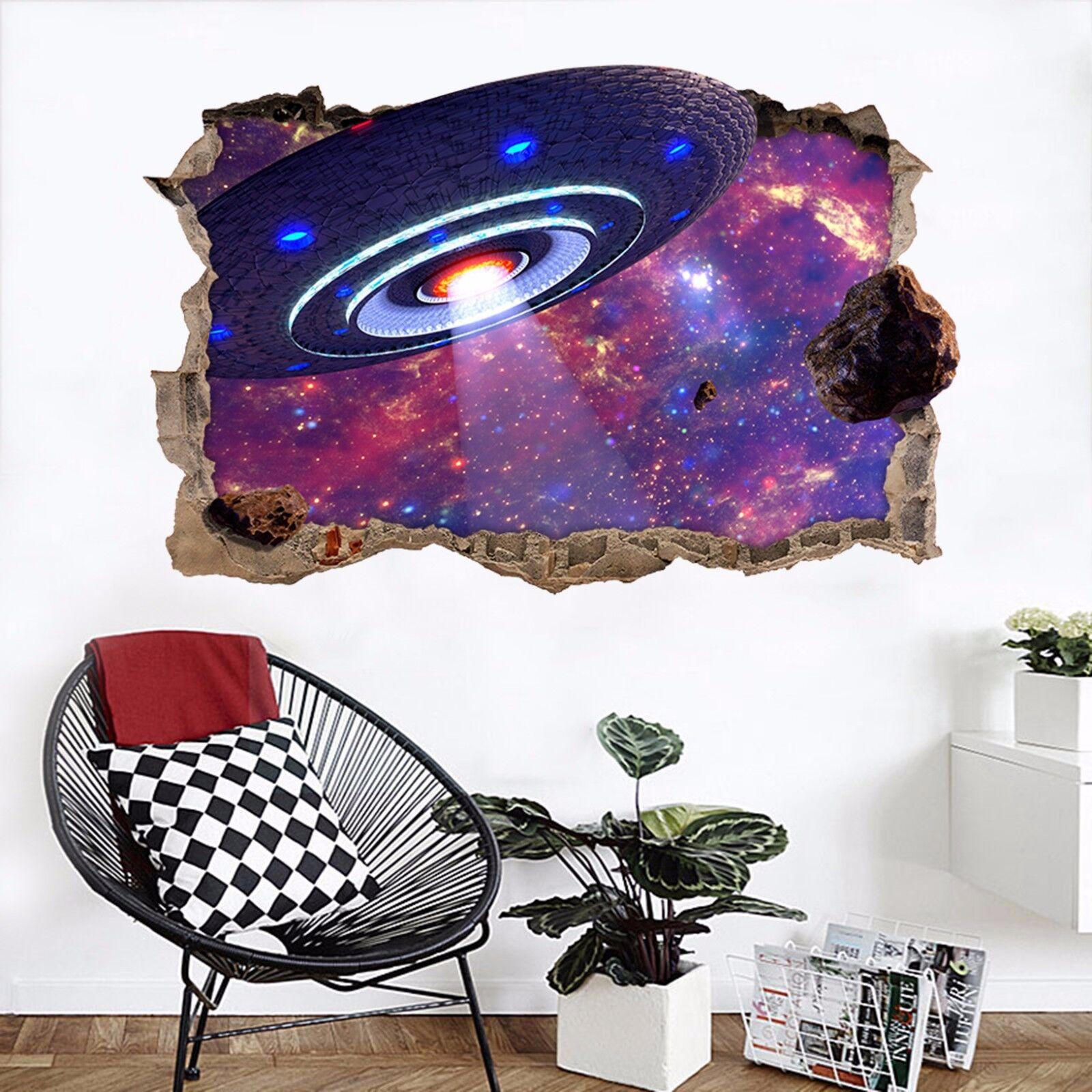 3D Raumfahrzeug 733 Mauer Murals Mauer Aufklebe Decal Durchbruch AJ WALLPAPER DE