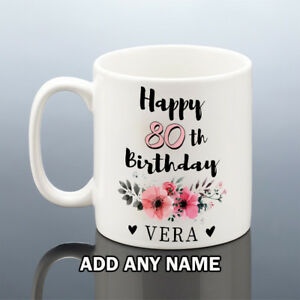 Image Is Loading 80th BIRTHDAY MUG 1939 Personalised Cup 80 Gift
