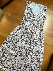 L M Pink Leopard Charley Dress- S XL Charlie/'s Project-  CLOSEOUT FINAL SALE