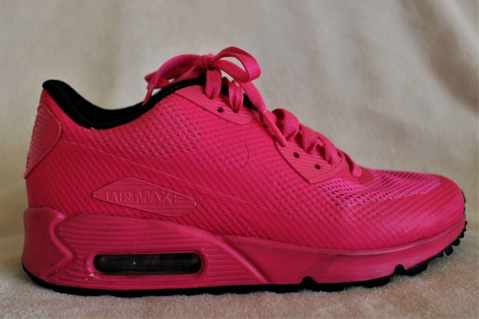 Women's Nike Air Max 90 Hyperfuse ID Hot Pink NIKEid Air Max sz 5.5  822578-997