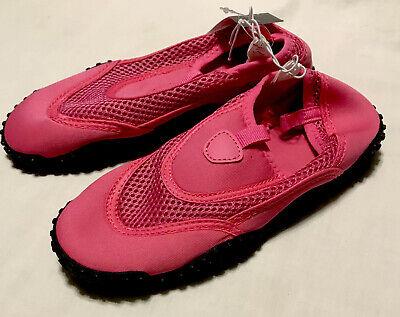 Bobbie Brooks Girls M 13-1 Outdoor Rubber Soled Water Shoe Size Pink Slipon Aqua