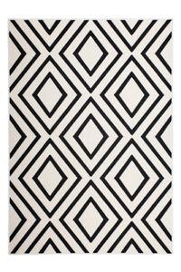 Teppich Rauten Viereck Muster Modern Skandi