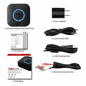 Bluetooth Receiver Hi-Fi Wireless Audio Adapter 1Mii B06 3D Surround aptX DSP