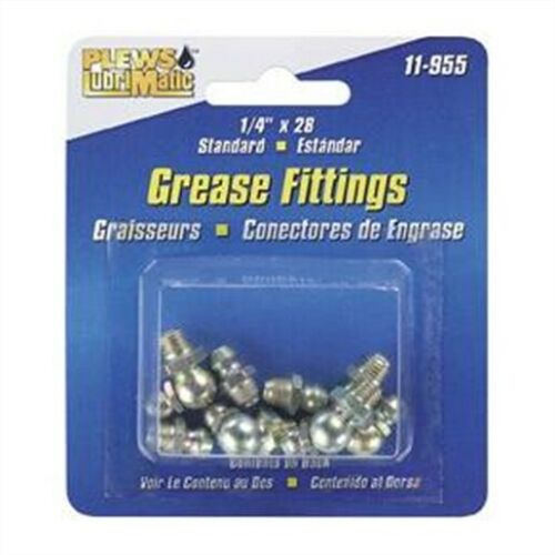 GREASE FITTING ASSTMNT SAE 8 FITTINGS ON CARD Plews 11-955