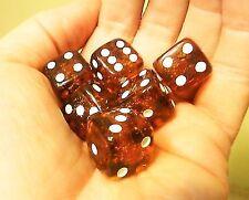 Handmade Baltic amber one dice Transparent .Game dice-best souvenir 8mm