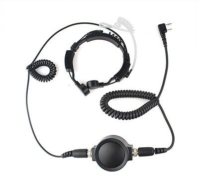Hot Mic 2 Pin PTT Throat Earpiece Headset for KENWOOD TYT HYT BAOFENG UV5R 888S