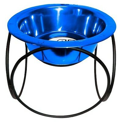 Platinum Pets Olympic Single Feeder with One Stainless Steel Wide Rimmed Bowl