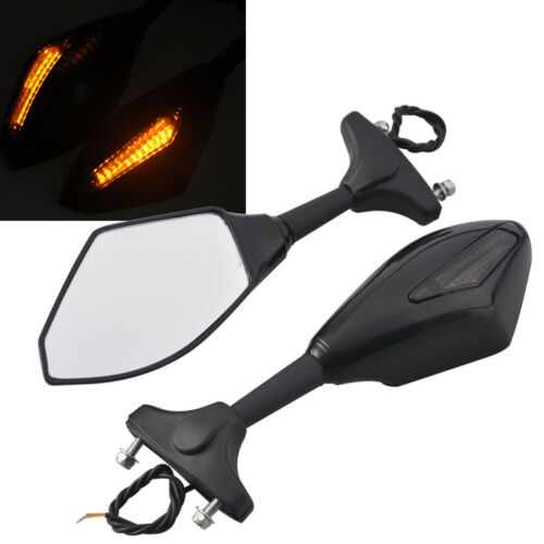 Motorcycle LED Turn Signal Integrated Indicator Light Rearview Mirror Left/&Right