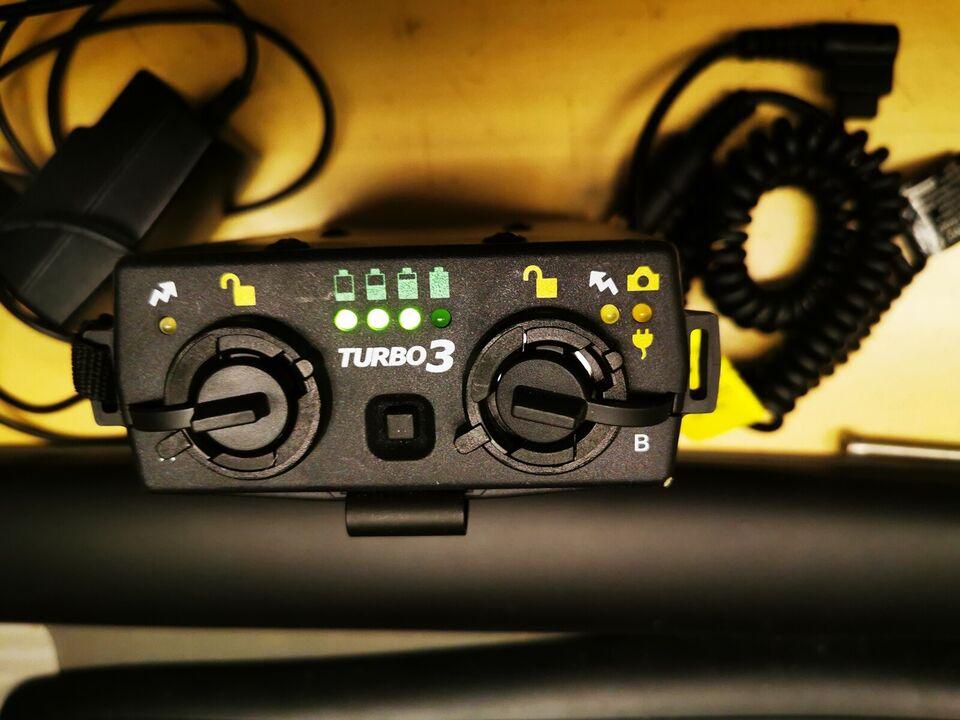 batteri pakke Canon flash, Quantum, Turbo 3
