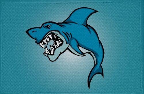 Ricamate pesce soggetto N 7 squalo bandiera bandiera aufbügler Patch 9 x 6 cm