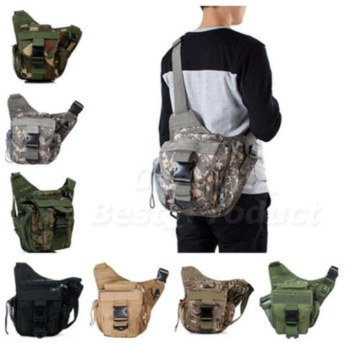 New Outdoor Camping Hiking 600D Polyester Shoulder Strap Bag Chest Backpack