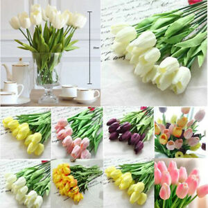10pcs-Tulip-Artificial-Flower-Latex-Real-Touch-Bridal-Wedding-Bouquet-Home-Decor