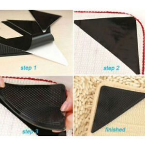 4-stuecke-Silikon-Teppich-Pad-Anti-slip-Schwarz-Matte-Tri-Aufkleber-Rutschfeste