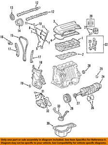 toyota oem 98 08 corolla engine crankshaft crank seal 9008031050 ebay rh ebay com 98 toyota corolla engine diagram Toyota 1 8 Liter Engine for 97 Corolla