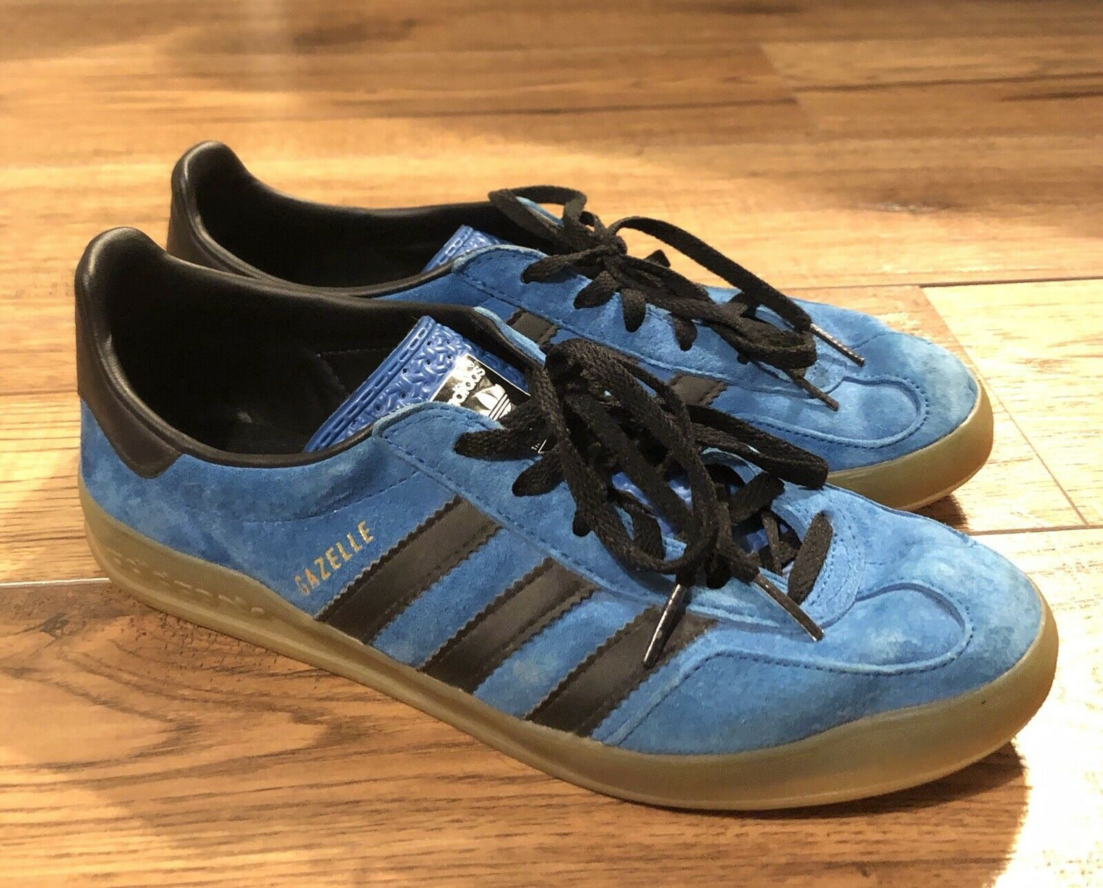 Adidas Gazelle Rare bluee Suede Trainers 7 Football Casual Casuals