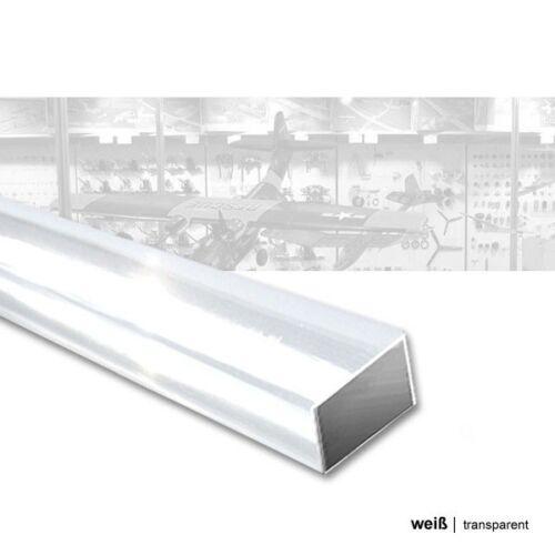 transparent weiß 5 Stück 6,0x,3,0x330mm ASA Quadratrohr