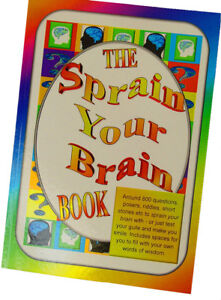 Sprain-Your-Brain-Book-Man-or-lady-gift-idea-Questions-Short-stories-Puns-etc