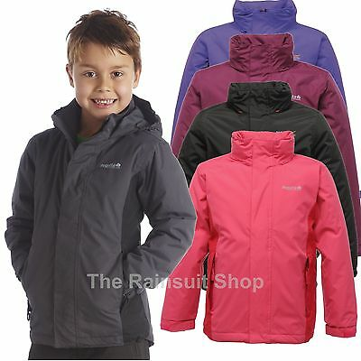 REGATTA OBSTACLE  WATERPROOF KIDS RAIN COAT JACKET BOYS GIRLS AGE 3-12YRS