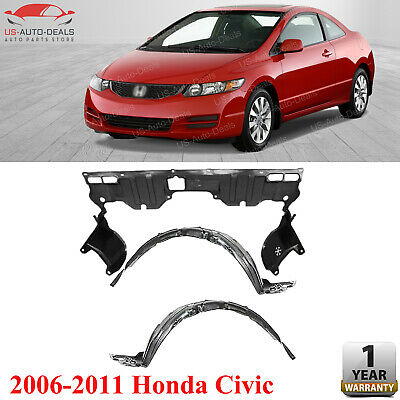 New Front HO1228112 Under Cover Engine Splash Shield For Coupe Honda Civic 06-11