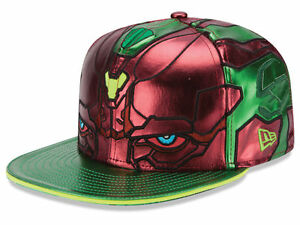 accca045db55 Image is loading Marvel-Vision-Character-Face-New-Era-59FIFTY-Flat-