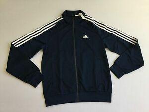 adidas 3 Stripe Collegiate Dark Blue Track Jacket | Zumiez