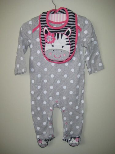 BHS Romper Playsuit Babygrow with Bib newborn to 9 months Cow design