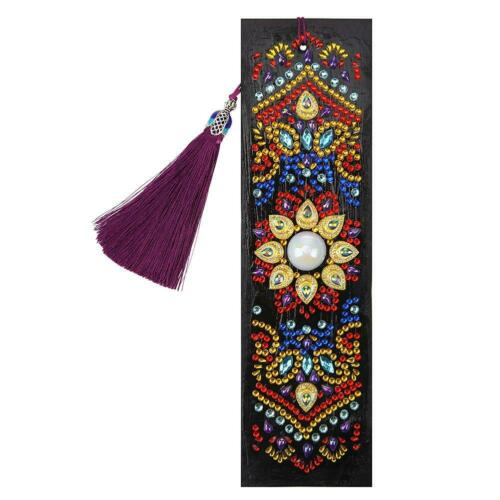 DIY Special Shaped Diamond Painting Leather Bookmark Tassel Book Mark Gifts Card