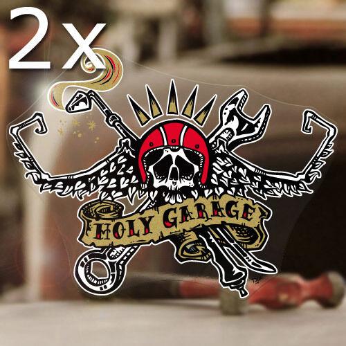 2x pièce David Lozeau autocollant sticker autocollante old school hot rod 130mm