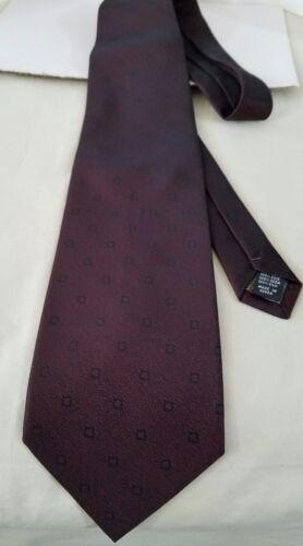 """DiMoggio Hand Made 100/% Pure Silk Mens Dark Maroon Classic Neck Tie 57/"""""""