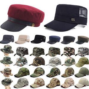 Army-Cadet-Military-Patrol-Cap-Hat-Men-Women-Summer-Baseball-Snapback-Sun-Caps