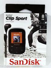 SDK008GA46K - SANDISK SDMX24-008G-A46K 8GB Clip Sport MP3 Player (Black) @NEW@