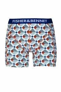 Fisher & Bennett Mens Underwear Multipack Three Pack Multi-Coloured Boxer Shorts