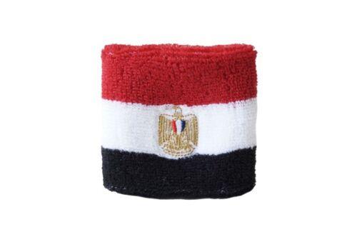 Schweißband Fahne Flagge Ägypten 7x8cm Armband für Sport