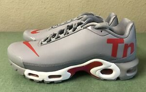 1eb69375c6d Nike Air Max Plus TN Mercurial Wolf Grey Red White Mens Sz 8 Running ...