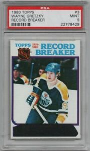 1980 80-81 Topps #3 WAYNE GRETZKY RB Unscratched PSA 9 HOF Edmonton Oilers