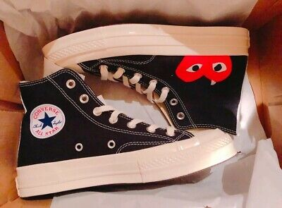 Converse Comme Des Garcons Play Chuck Taylor All Star High Hidden Heart |  eBay