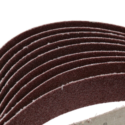 40pcs Belt Power Finger File Sander Sanding Belts 25x762mm 80//120//180//320 Grit