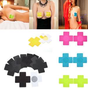 5f4064c77c0db Lot 20x Disposable Satin Cross Adhesive Bra Breast Sticker Pasties ...