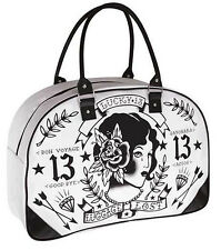 Lucky 13 Travel Bag Luggage Lost Tattoo Design Oversize Overnight Purse