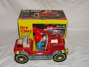 Ovp Senility VerzöGern Blechspielzeug Fire Chief Me 699 Made In China
