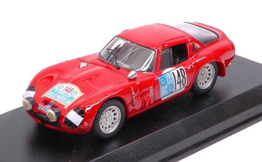 Alfa romeo tz2  148 2nd Rally Jolly Hotel 1965 A. de Adamich F. turnover 1 43