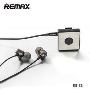 on Wireless Nero Sport Remax Microfono Cuffie con S3 FM RB 4 1 Bluetooth Clip dtBqvn0t