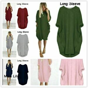 Mini-Dress-Casual-Stretch-dresses-for-women-Loose-Oversized-Ladies-summer-Tops