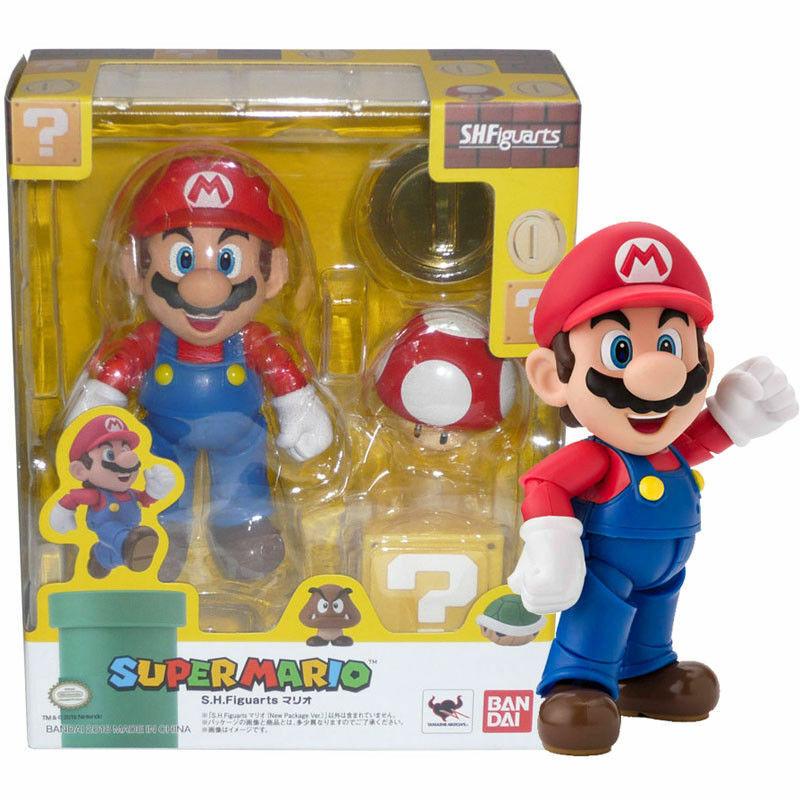 Super Mario S.H.Figuarts Action Figure Bros Brothers Schneemann 10 Cm